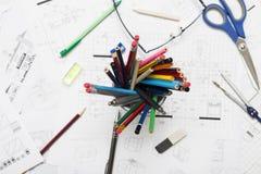 Architecte Drawings Image libre de droits