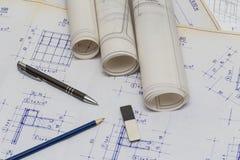 Architecte Drawings Images libres de droits