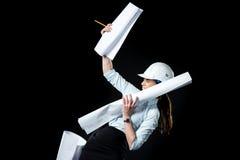Architecte féminin dans le casque Image libre de droits