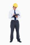 Architecte mâle prenant des notes Image stock
