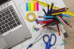 Architecte malpropre Desk Photo stock