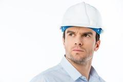 Architecte masculin dans le casque antichoc Image stock