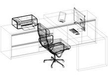 Architecte moderne Blueprint de concept de bureau - d'isolement illustration libre de droits