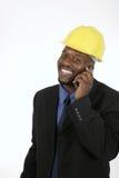 Architecte ou entrepreneur de construction heureux photo stock
