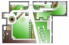 Architecte paysagiste Drawing illustration de vecteur