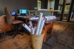 Architecten die Bureaus werken royalty-vrije stock foto's