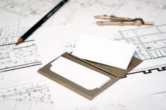 Architectenadreskaartje Royalty-vrije Stock Afbeelding