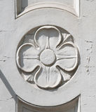 Architectonic decoration. A beautiful detailed architectonic decoration with flower Stock Images