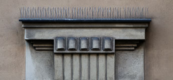 Architectonic decoration. This is superior part of a window Stock Photos