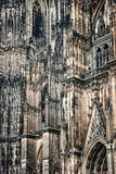 Architectonic detail of Cologne cathedral Stock Images