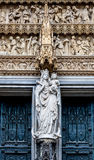 Architectonic detail of Cologne cathedral Stock Photo