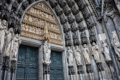 Architectonic detail of Cologne cathedral Stock Photos
