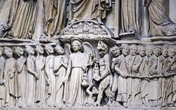 Architectonic detail, Notre-Dame Paris Royalty Free Stock Photography