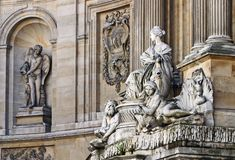 Architectonic detail, Paris Royalty Free Stock Photos