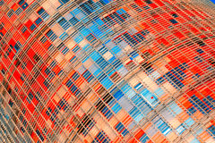 Architectonic detail in Torre Agbar in Barcelona Stock Photos