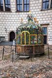 The architectonic detail. Water well in Jindrichuv Hradec castle, Czech Republic Stock Photo
