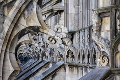 Architectonic details of  Dumo Cathedral, MilanItaly Stock Photo