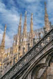 Architectonic details from the famous Milan Cathedral, Italy Stock Photos