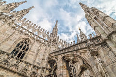 Architectonic details from the Milan Cathedral, Italy Royalty Free Stock Image