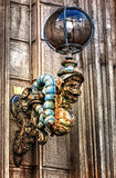 Architectonical detail. Vintage street light in Rome Royalty Free Stock Photos