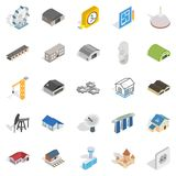 Architectonics icons set, isometric style. Architectonics icons set. Isometric set of 25 architectonics vector icons for web isolated on white background Royalty Free Stock Photo