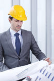 Architector in hardhat Stock Images