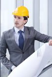 Architector in hardhat Stock Photography