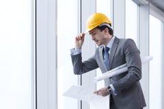 Architector in hardhat Stock Image