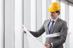 Architector in hardhat Royalty Free Stock Photography