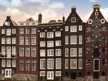 Architectre de Amsterdão no crepúsculo Fotografia de Stock Royalty Free