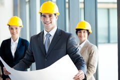 Architects. Group of modern architects portrait Royalty Free Stock Images
