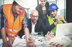 Architects And Designers Working In The Office Concept Royalty Free Stock Photos