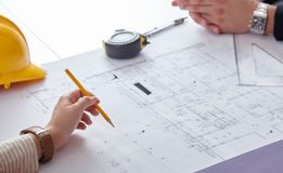 Architects Blueprints Royalty Free Stock Images