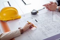 Architects Blueprints Stock Photography