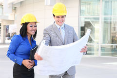 Architects on Building Construction Site Royalty Free Stock Photos