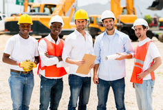 Architects at a building site Stock Images