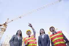 Architects and businesswomen at a construction site, Beijing Royalty Free Stock Photos