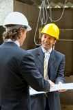 Architects at a construction site Stock Photography