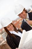 Architects at a construction site Royalty Free Stock Photography