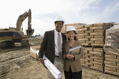 Architects At Construction Site Royalty Free Stock Photo
