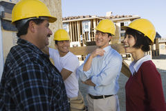 Architects At Construction Site Royalty Free Stock Images
