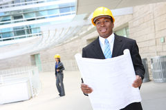 Architects on Construction Site Stock Image