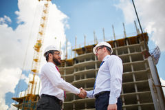 Architects at construction site Royalty Free Stock Photography