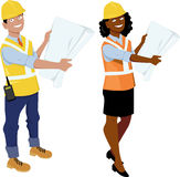 Architects or contractors Stock Photo