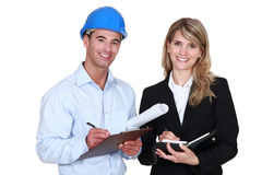 Architects with diary Royalty Free Stock Image