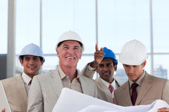 Architects discussing a construction plan Royalty Free Stock Photography