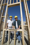 Architects Discussing At A Construction Site Royalty Free Stock Photos