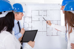 Architects Discussing Project Royalty Free Stock Images