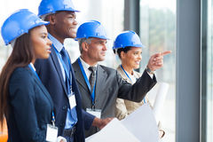 Architects discussing project Stock Image