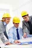 Architects at discussion Royalty Free Stock Photos